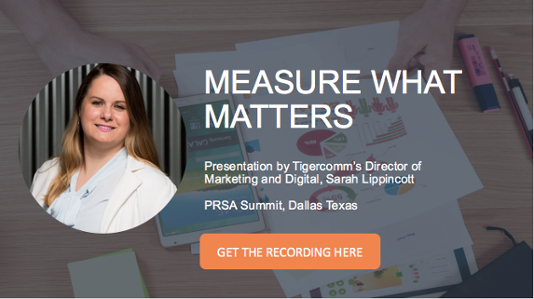 Measure What Matters PRSA Event Click To Get Video