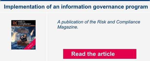 Implementation of an information governance program