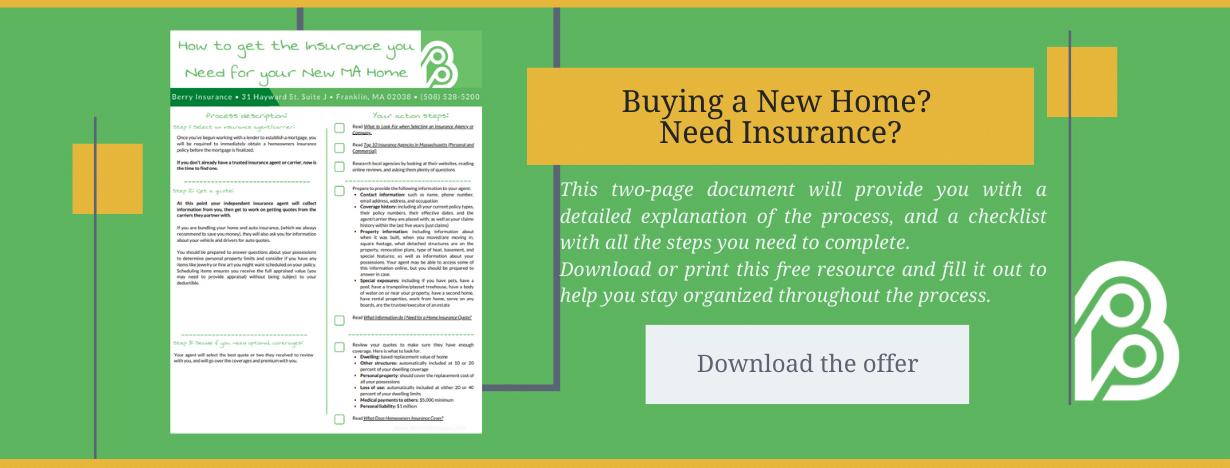New Home Insurance Offer CTA