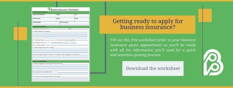 Business Insurance Worksheet Download