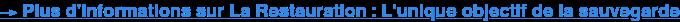 →Plus d'informations sur La Restauration : L'unique objectif de la sauvegarde