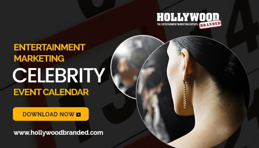 Celebrity Event Planning Calendar by Hollywood Branded