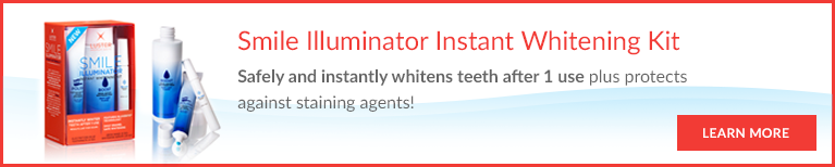 Safely and instantly whiten teeth