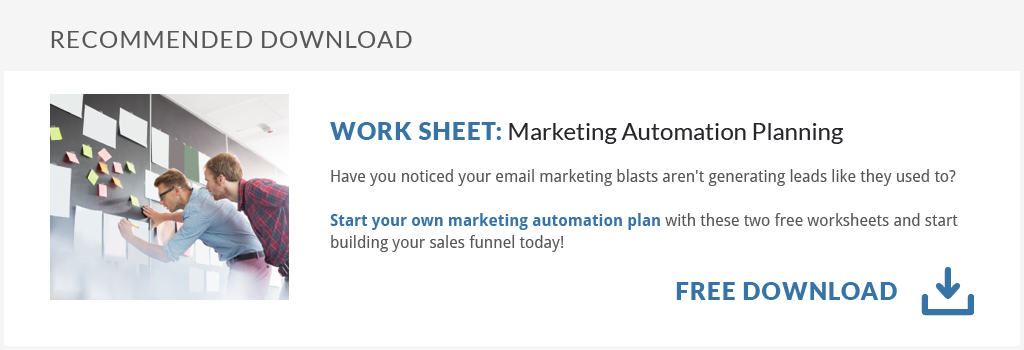 Free Worksheet Download: Marketing Automation Planning