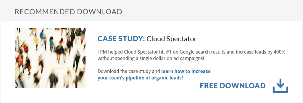 Get the Case Study: Get organic leads without breaking the bank