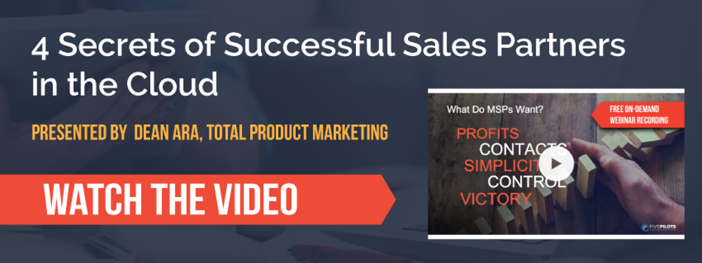 Watch the video presentation: 4 Secrets of Successful Sales Partners in the Cloud