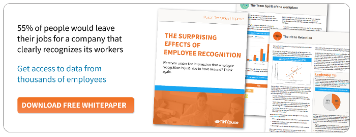 The Effects of Employee Recognition & Appreciation Report by TINYpulse