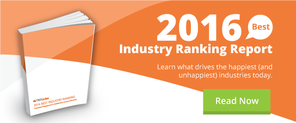 TINYpulse 2016 Best Industry Ranking Report