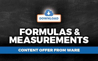 Formulas and Measurements WARE Louisville KY