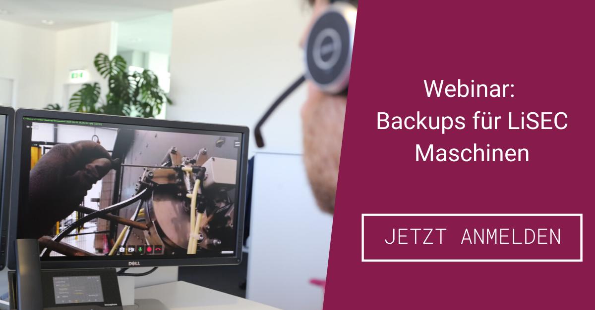 webinar backups für lisec maschinen