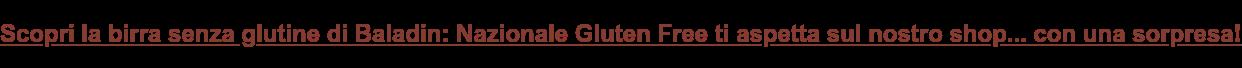 Prova subito la birra senza glutine di Baladin: Nazionale Gluten Free ti  aspetta sul nostro shop!