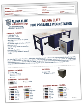Click here to download our Aluma Elite PRO Portable Workstation spec sheet