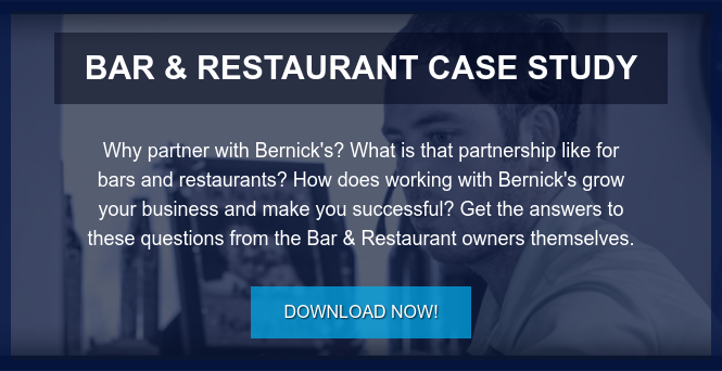 Bar & Restaurant Case Study  Why partner with Bernick's? What is that partnership like for bars and  restaurants? How does working with Bernick's grow your business and make you  successful? Get the answers to these questions from the Bar & Restaurant owners  themselves. Download Now!
