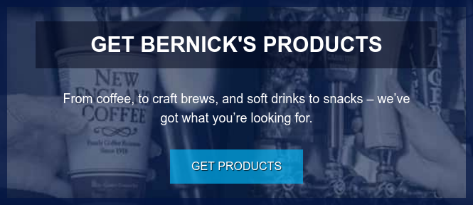 Get Bernick's Products  From coffee, to craft brews, and soft drinks to snacks – we've got what you're  looking for. Get Products