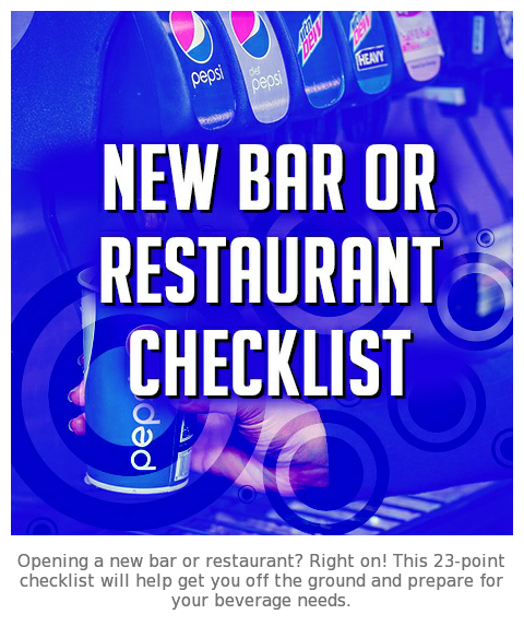 New Bar or Restaurant Checklist