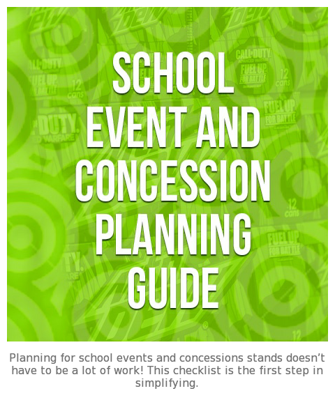 School Event & Concession Planning Guide