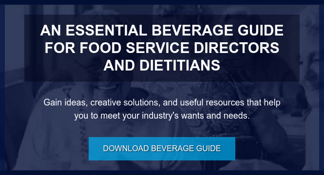AN ESSENTIAL BEVERAGE GUIDE FOR FOOD SERVICE DIRECTORS AND DIETITIANS  Gain ideas, creative solutions, and useful resources that help you to meet  your industry's wants and needs. Download Beverage Guide