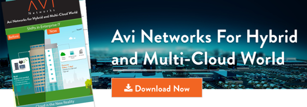 Avi Networks for Hybrid and Multi Cloud World