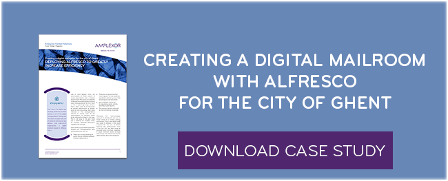 Download the case study: Creating a digital mailroom with Alfresco for the city of Ghent