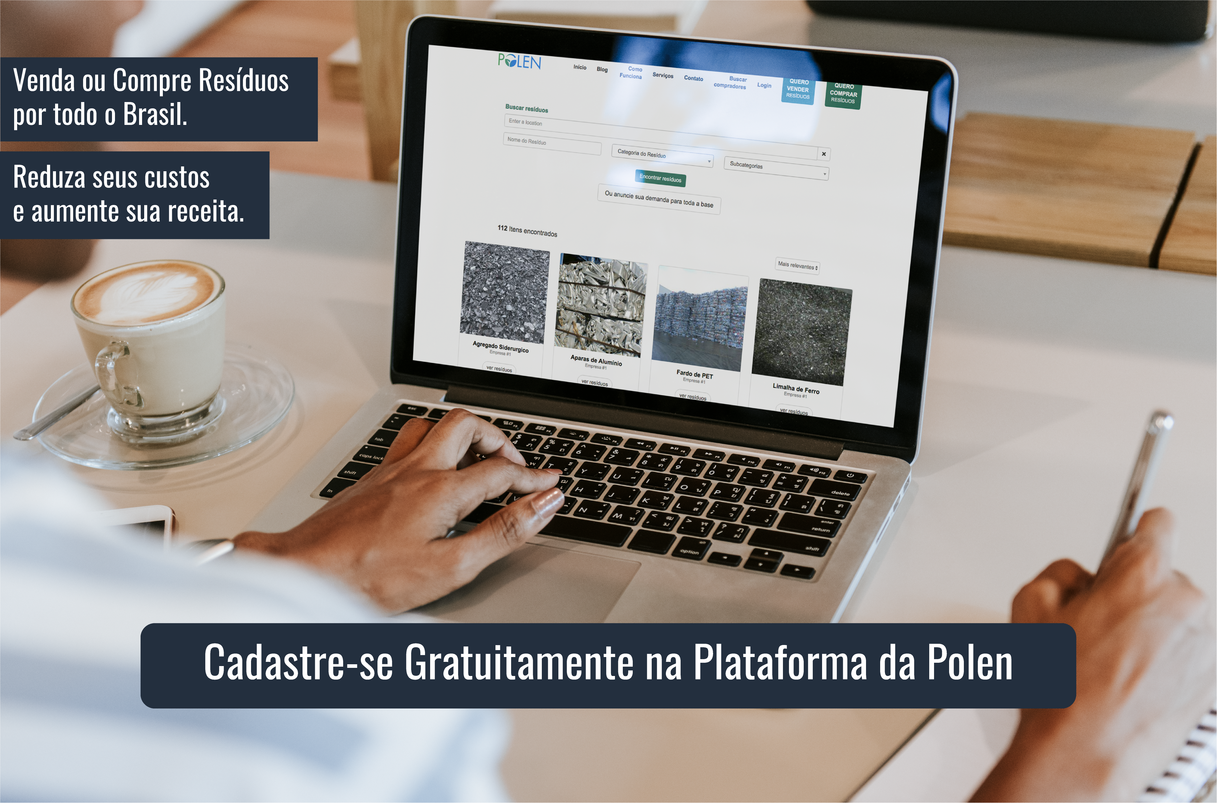 Cadastre-se gratuitamente na Plataforma da Polen!