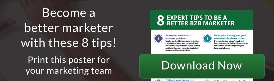 b2b marketer tip sheet CTA
