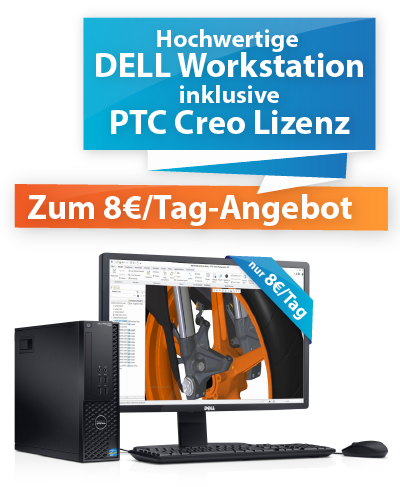 Kompletter CAD Arbeitsplatz für gerade mal 8€/Tag