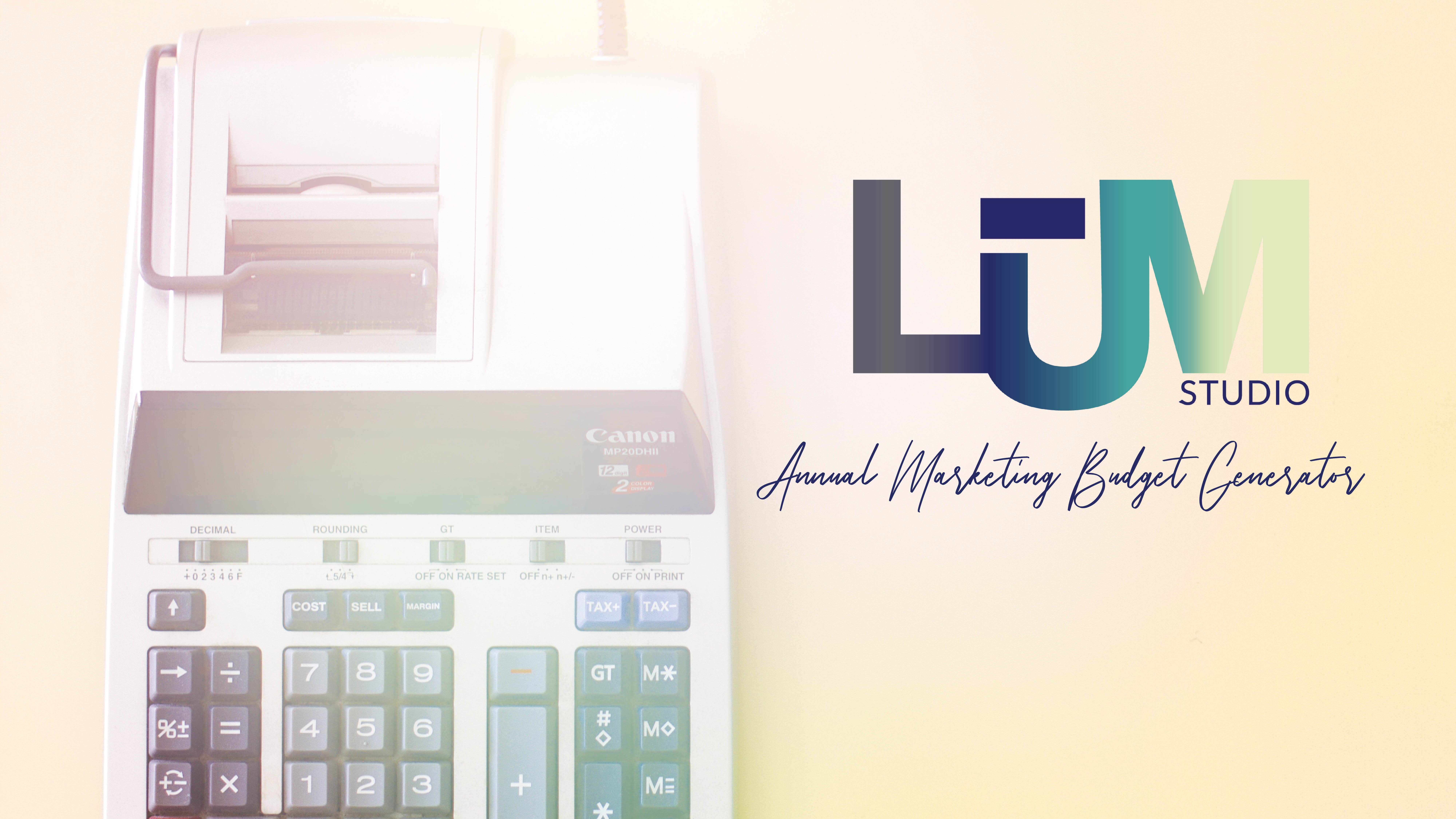Annual Marketing Budget Generator