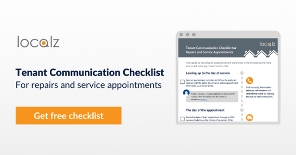 Download the free checklist for housing tenant communications around repairs and visits