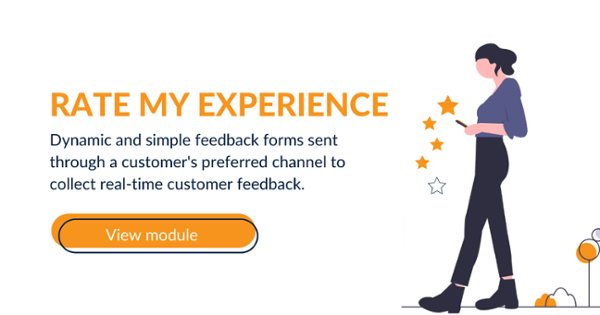 Localz Rate My Experience customer feedback for field service, delivery and collections