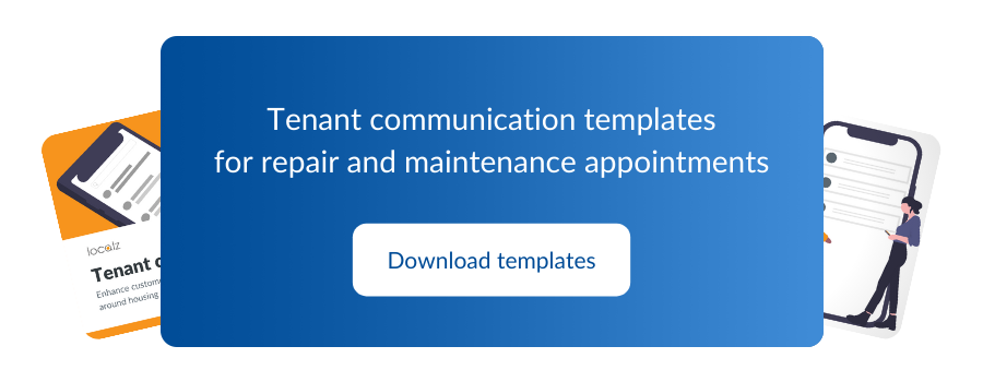 Download the free checklist for customer communications around repair and maintenance appointments and housing visits