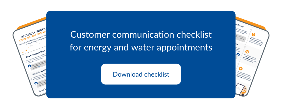 Download the free checklist for customer communications around water, energy and smart meter appointments