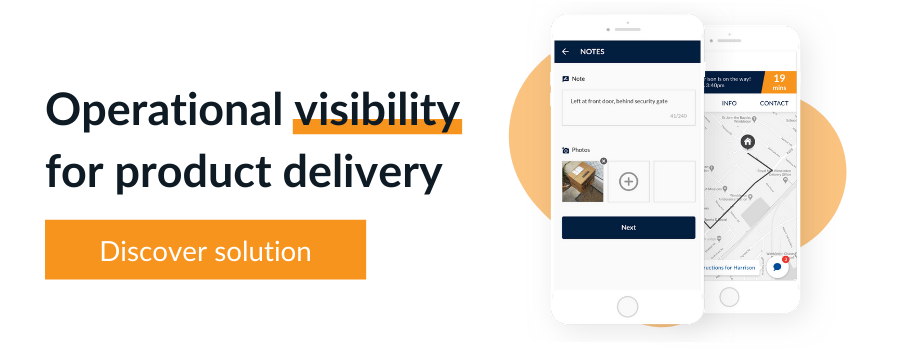 Localz customer communication and proof of delivery for attended home delivery and B2B delivery