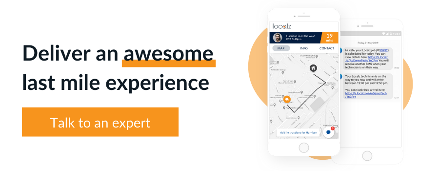 Book a free consultation with Localz to enhance last-mile experience