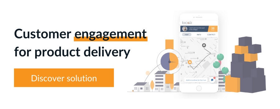 Localz customer communication and notifications for attended home delivery and B2B delivery