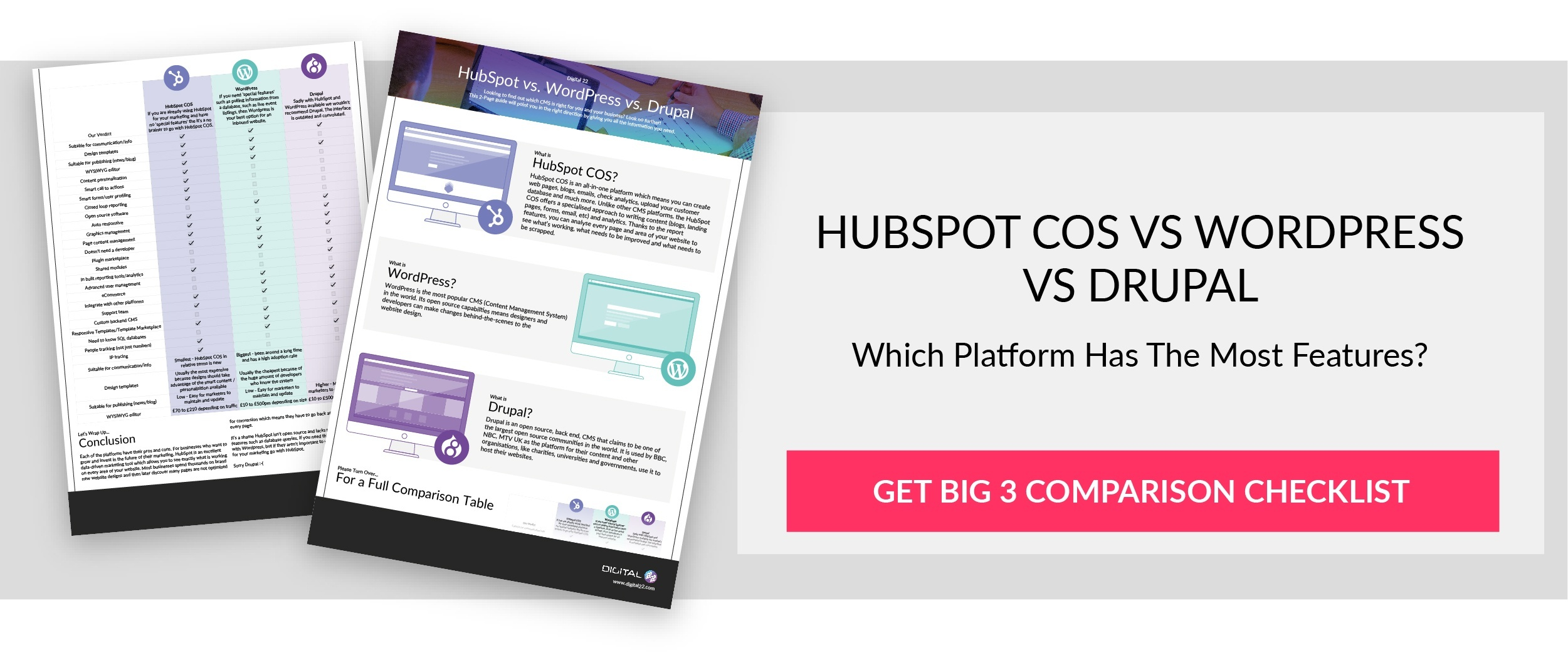 HubSpot vs WordPress vs Drupal