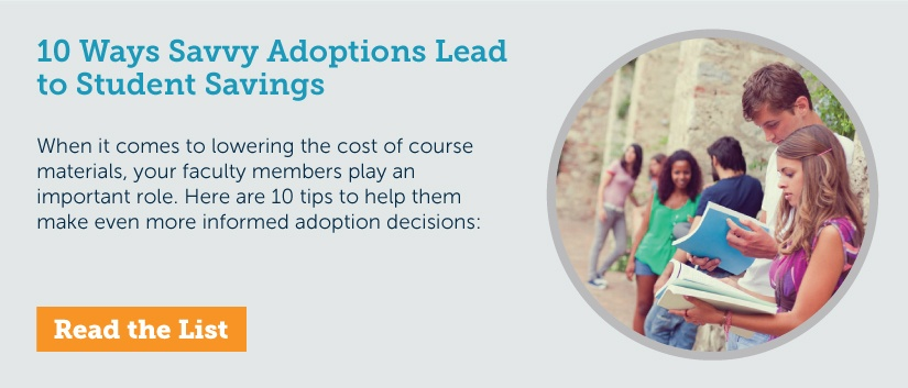 10 Ways Savvy Adoptions Lead to Student Savings