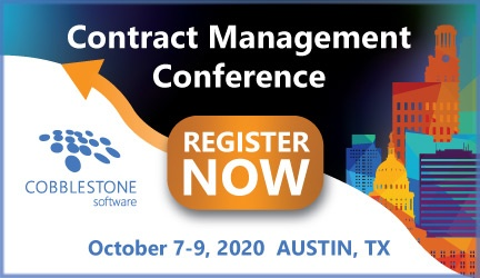 Register now for CobbleStone's Contract Management Conference!