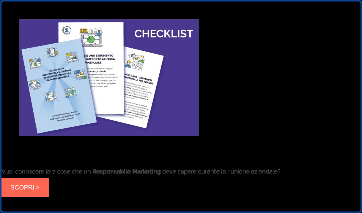 Vuoi conoscere le 7 cose che un Responsabile Marketing deve sapere durante la  riunione aziendale? SCOPRI >