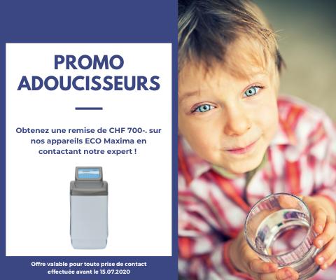 Promotion sur les adoucisseurs d'eau