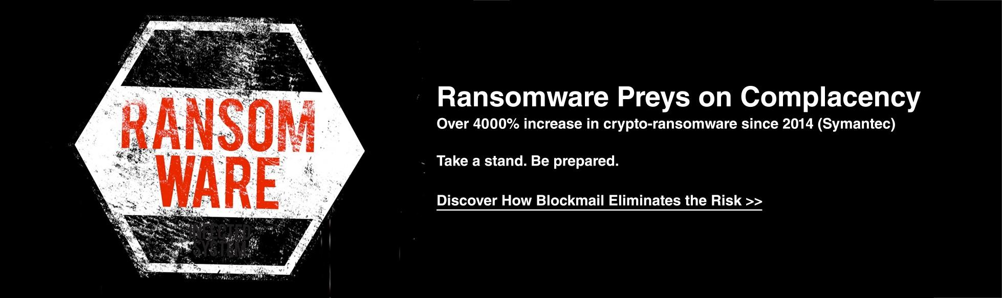 Ransomware anti spam