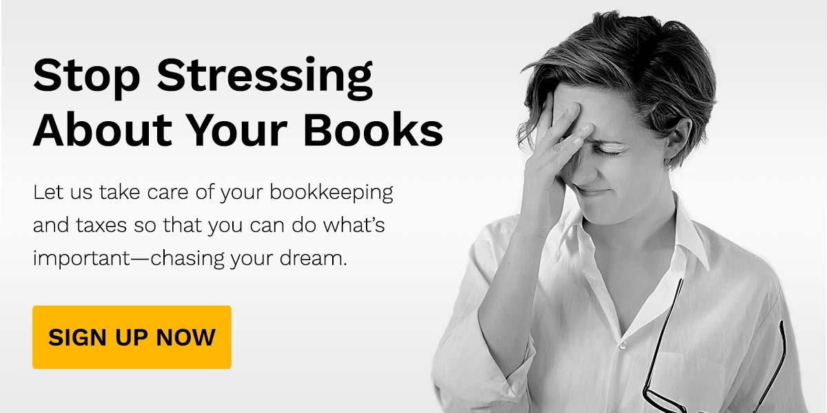 Stop stressing about your books, and start chasing your dream