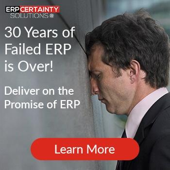 30 Years of failed ERP is over. Deliver on promise of ERP.