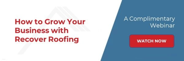 """Watch  the """"How to Grow Your Business with Recover Roofing"""" Webinar"""