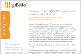 Whitepaper: Breathing Life into SOPs with an Automated Workflow-Driven Process