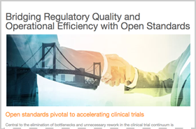 Bridging Regulatory Quality and Operational Efficiency with Open Standards