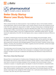Better Study Startup Means Less Study Rescue
