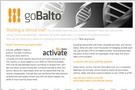 goBalto Datasheet for Sponsor-CROs