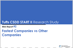 Tufts START II Mini-Report: Fastest vs. Other Companies