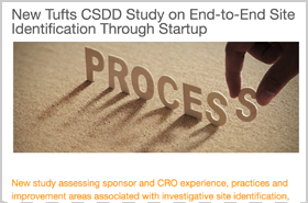 New Tufts CSDD Study on End-to-End Site Identification Through Startup