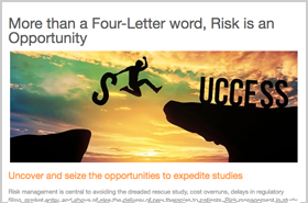 More than a Four-Letter word, Risk is an Opportunity
